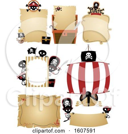 Pirate Invitations Banner Illustration by BNP Design Studio