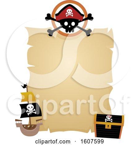 Pirate Banner Clipart by BNP Design Studio