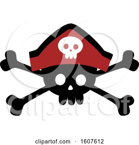 Pirate Party Themed Skull and Crossbones Clipart by BNP Design Studio
