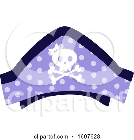 Female Pirate Party Themed Skull Hat Clipart by BNP Design Studio