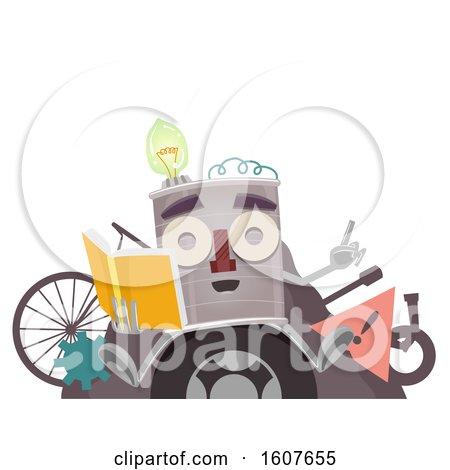 Junk Art Mascot Book Guide Illustration by BNP Design Studio
