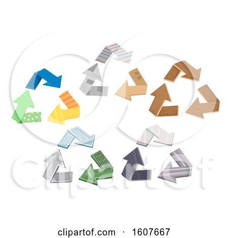 Recycle Symbol Designs Illustration by BNP Design Studio