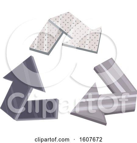 Metal Recycle Arrows Eco Clipart by BNP Design Studio