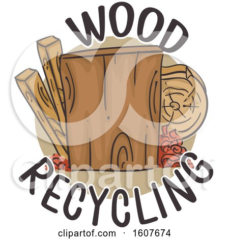 Wood Recycling Icon Illustration by BNP Design Studio