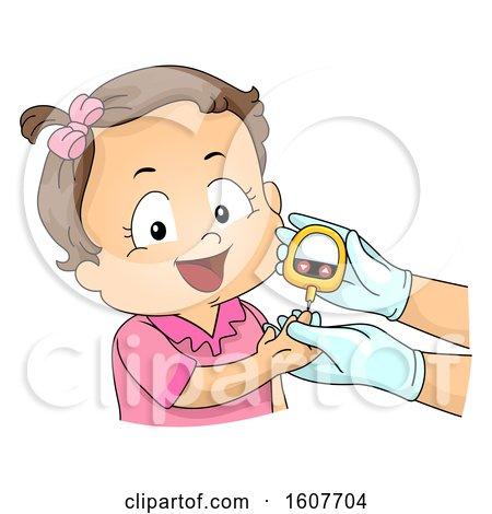 Kid Toddler Girl Blood Glucose Meter Test Posters, Art Prints