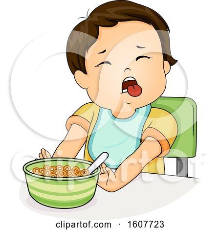 Kid Toddler Boy Push Food Illustration by BNP Design Studio