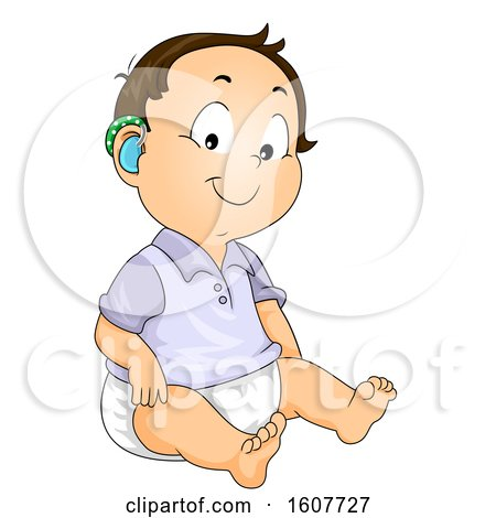 Baby Boy Hearing Aid Illustration by BNP Design Studio