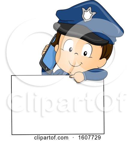 Kid Toddler Boy Police Call Illustration by BNP Design Studio