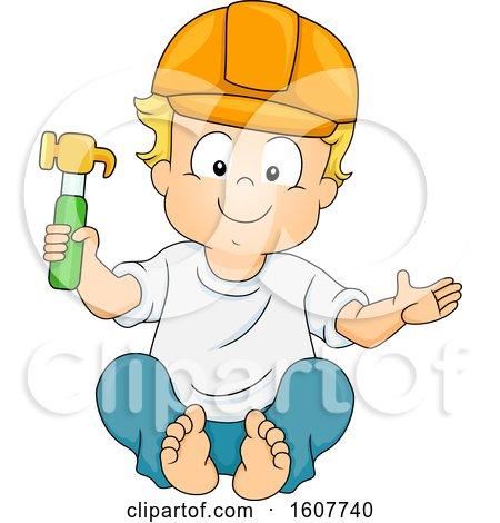 Kid Toddler Boy Construction Hammer Illustration by BNP Design Studio