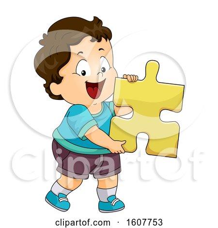 Kid Toddler Boy Puzzle Piece Illustration by BNP Design Studio