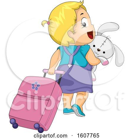 Kid Toddler Girl Travel Bag Rabbit Illustration by BNP Design Studio