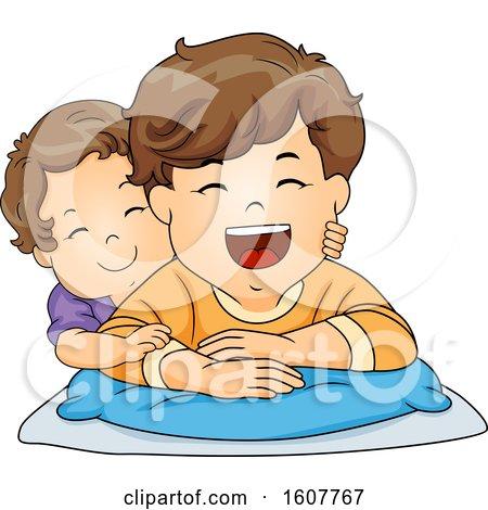 Kids Toddler Boy Brothers Illustration by BNP Design Studio