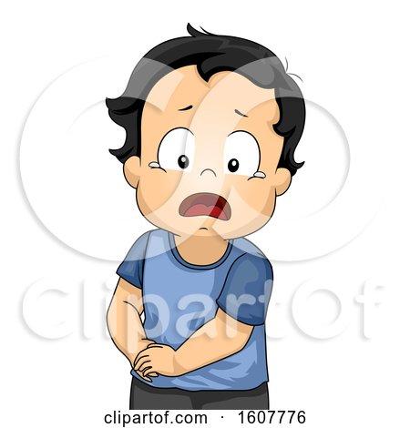 Kid Toddler Boy Appendicitis Pain Illustration by BNP Design Studio