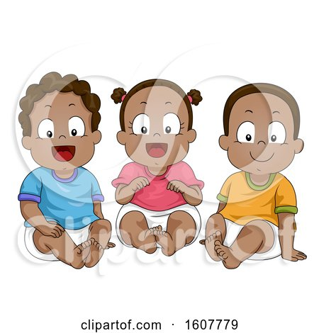 Kids Toddlers African American Illustration by BNP Design Studio