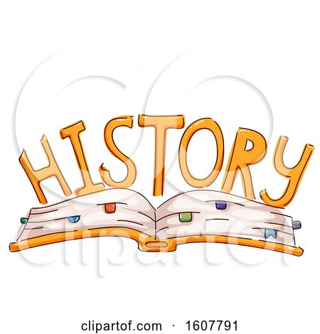 Open Book History Lettering Illustration by BNP Design Studio