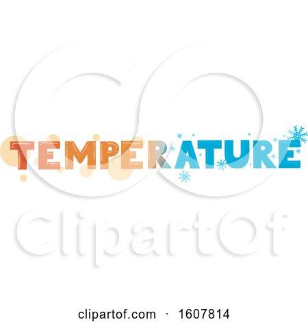 Temperature Hot Cold Lettering Illustration by BNP Design Studio