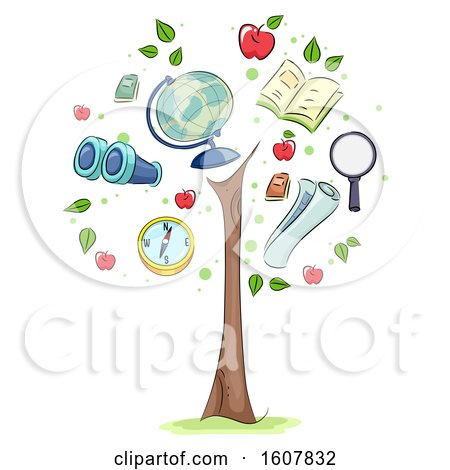 Geography Growing Tree Illustration by BNP Design Studio