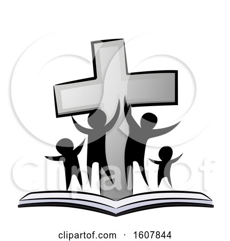 Christian Family Cross Book Illustration by BNP Design Studio