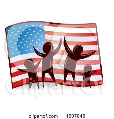Flag Family Illustration by BNP Design Studio