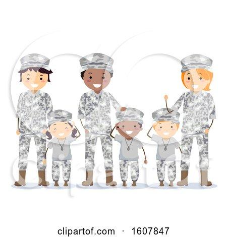 Stickman Family Military Army Brats Illustration by BNP Design Studio