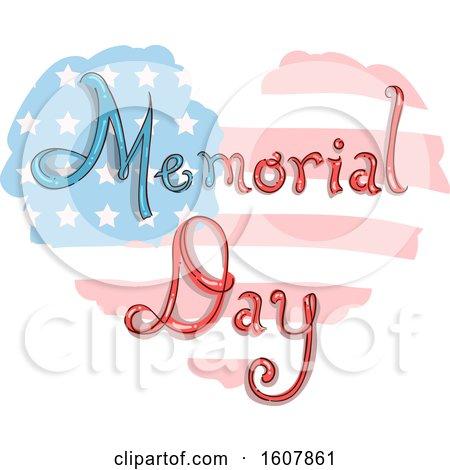 Memorial Day Heart Flag Illustration by BNP Design Studio