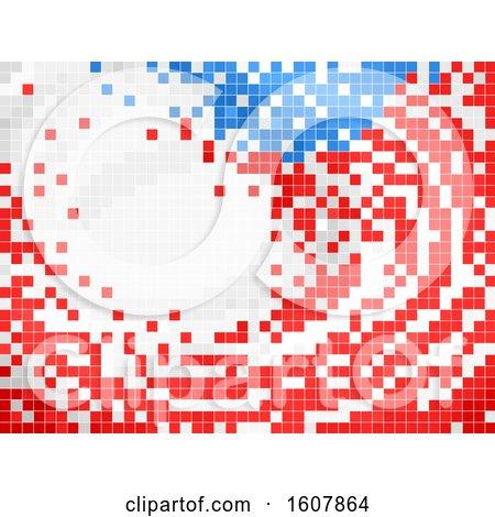 US Flag Pixel Art by BNP Design Studio