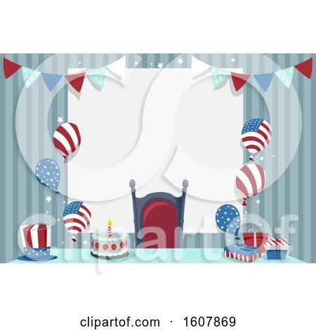 US Theme Birthday Illustration by BNP Design Studio