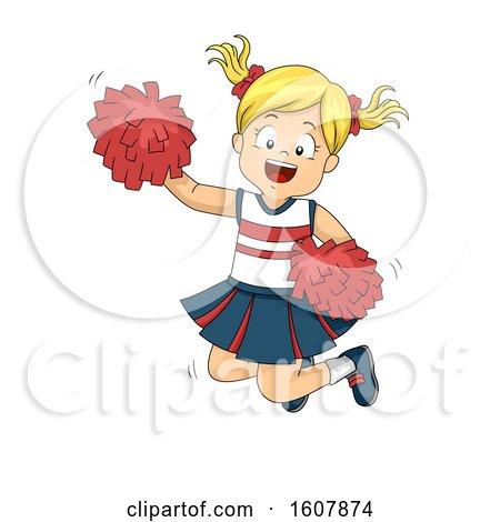 Kid Girl Cheerleader Jump Illustration by BNP Design Studio