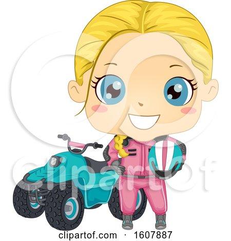 Kid Girl Quad Bike Illustration by BNP Design Studio