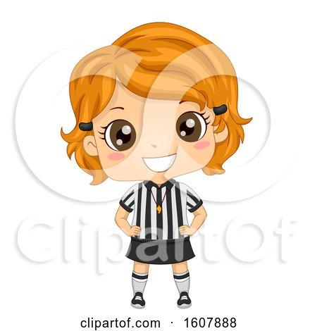 Kid Girl Referee Illustration by BNP Design Studio