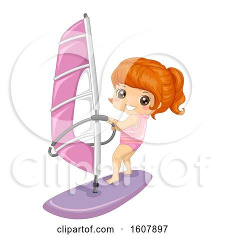 Kid Girl Sports Sailing Illustration by BNP Design Studio