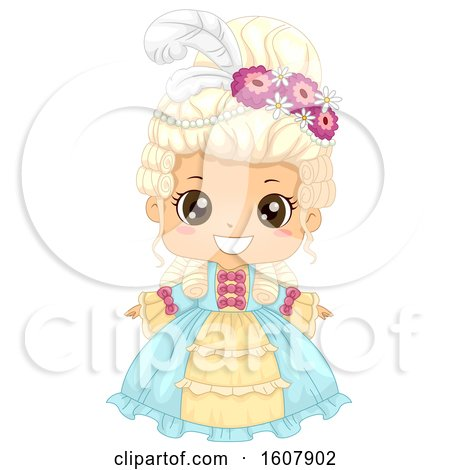 Kid Girl Victorian Dress Illustration by BNP Design Studio