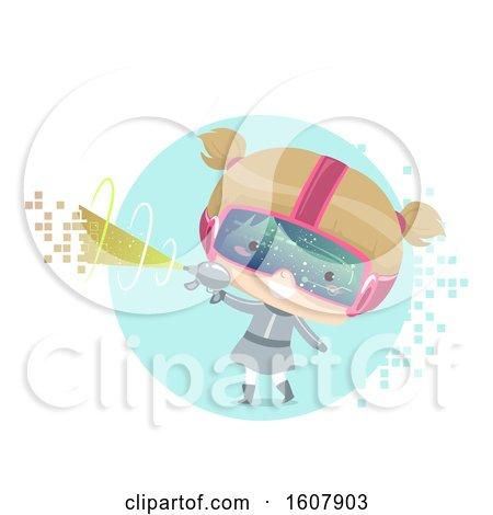 Kid Girl Virtual Gaming Illustration by BNP Design Studio