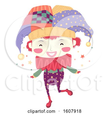 Kid Boy Clown Illustration by BNP Design Studio