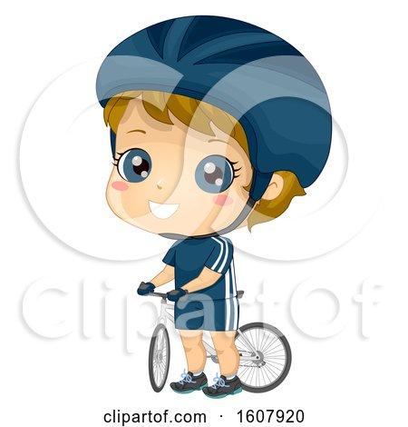 Kid Boy Cyclist Illustration by BNP Design Studio