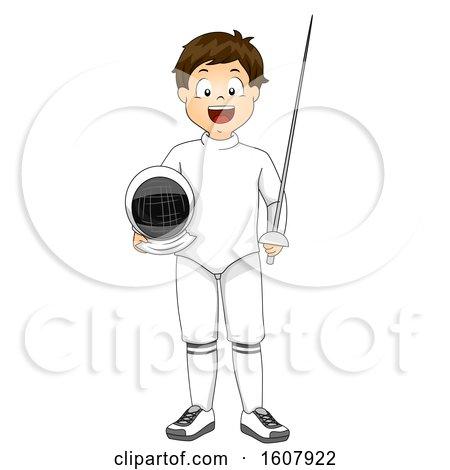 Kid Boy Fencing Outfit Illustration by BNP Design Studio