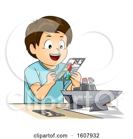 Kid Boy Plastic Model Illustration by BNP Design Studio