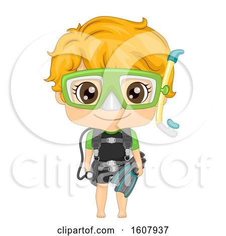 Kid Boy Scuba Dive Illustration by BNP Design Studio