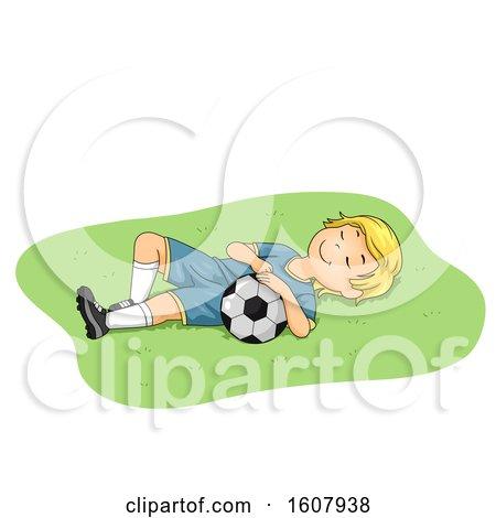Kid Boy Sleep Soccer Illustration by BNP Design Studio