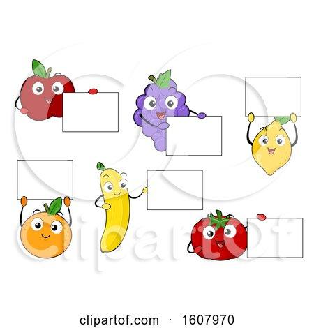 Mascot Fruits Board Illustration by BNP Design Studio