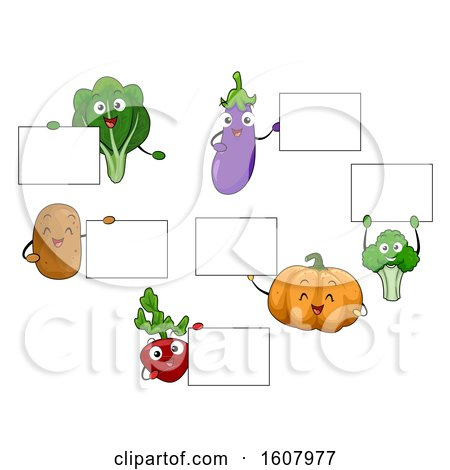 Mascot Vegetables Board Illustration by BNP Design Studio