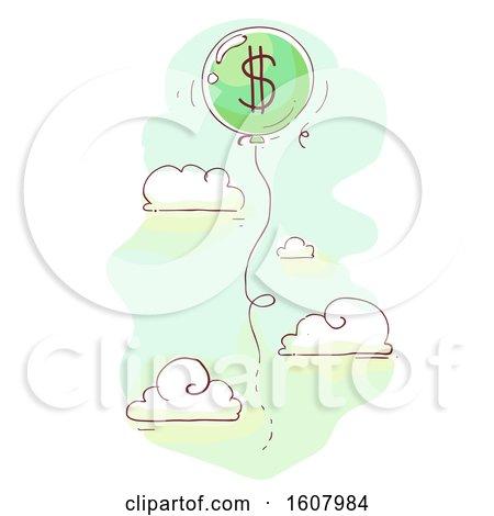 Balloon Dollars Illustration by BNP Design Studio