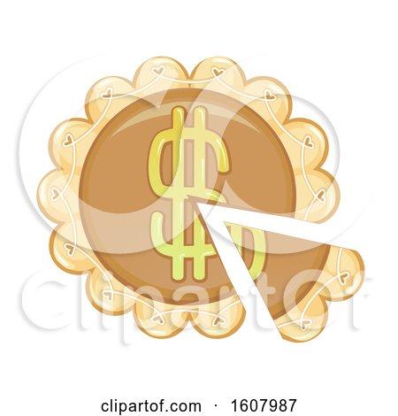 Dollar Pie Illustration by BNP Design Studio