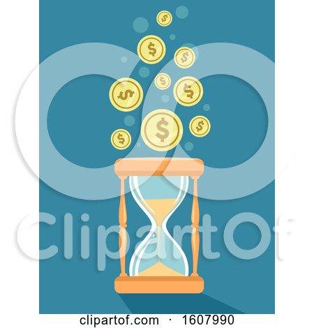 Hour Glass Wait Save Buy Illustration by BNP Design Studio