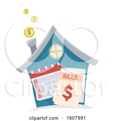 House Monthly Bills Illustration by BNP Design Studio