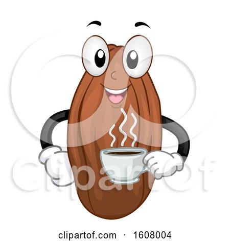 Mascot Cacao Bean Hot Choco Drink Illustration by BNP Design Studio