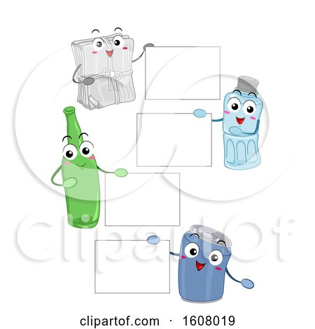 Mascot Recycle Materials Board Illustration by BNP Design Studio