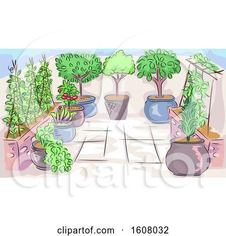 Home Garden Scene Illustration by BNP Design Studio