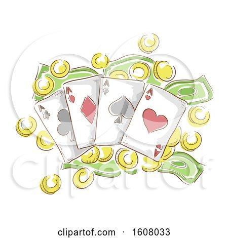 Money Card Gamble Illustration by BNP Design Studio