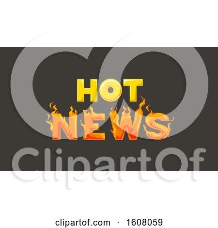 Hot News Fire Illustration by BNP Design Studio